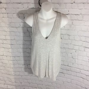 Anthropology brand Bordeaux double layer tank top